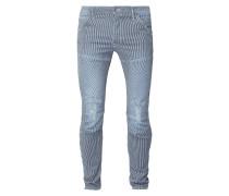 Slim Fit Jeans mit Streifenmuster