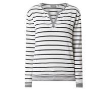 Pullover mit Streifenmuster Modell 'Evaline'