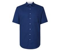 Regular Fit Business-Hemd aus Natté mit kurzem Arm