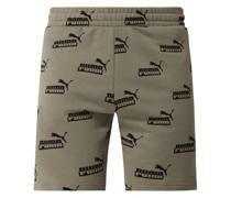 Shorts mit Logo-Muster