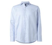 Regular Fit Business-Hemd mit Allover-Muster