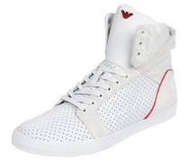 High Top Sneaker mit Lochmuster