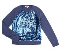 Sweatshirt mit Besatz aus Wende-Pailletten