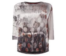 Shirt mit Kontrastvorderseite aus Krepp