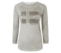 Shirt im Washed Out Look mit Logo-Print