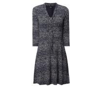 Kleid mit Schluppe und Allover-Muster