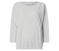 Sweatshirt mit elastischem Saum
