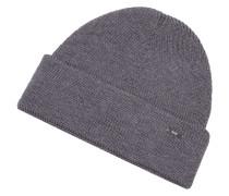 Mütze in Rippenstrick aus Schurwolle