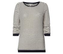 Pullover mit gerafften Dreiviertel-Ärmeln