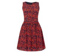 Kleid aus Seide mit Allover-Muster