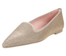 Loafers aus Leder mit Glitter-Effekt