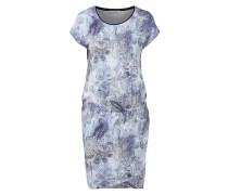 Kleid mit ornamentalem Muster und Gummizug