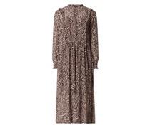 Kleid aus Krepp mit Zebramuster