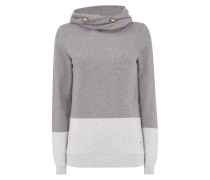Sweatshirt mit Tube Collar in Two-Tone-Machart
