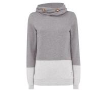Sweatshirt mit Tube Collar in Two-Tone-Machart