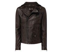 Lederjacke im Washed-Out-Look Modell 'Be Ready'