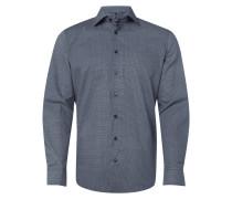 Modern Fit Hemd mit Hahnentritt-Dessin