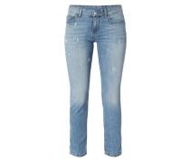 Skinny Fit Jeans mit Ziersteinbesatz