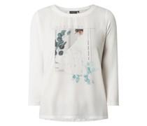 Blusenshirt aus Satin mit Message Modell 'Snowwhite'