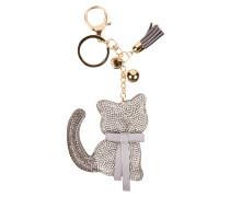 Schlüsselanhänger mit Katzen-Anhänger