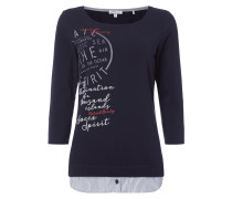 Shirt im 2-in-1-Look mit Message-Flockprint