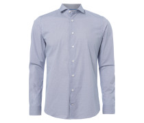 Slim Fit Hemd mit feinem Kreis-Muster
