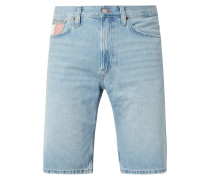 Tapered Fit Jeansshorts aus Baumwolle Modell 'Rey'