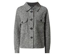 Oversized Jacke in Salz-und-Pfeffer-Optik Modell 'Rosie'