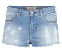 Jeans-Hotpants im Destroyed Look