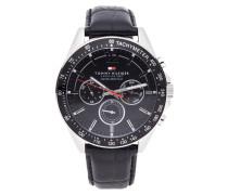 Uhr aus Edelstahl mit Tachymeter