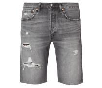 Original Fit Jeansshorts im Destroyed Look