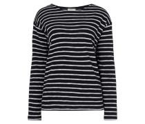 Boxy Fit Pullover mit wechselnden Streifen