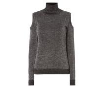 Cold Shoulder Pullover mit Effektgarn
