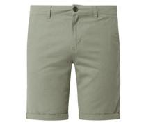 Slim Fit Chino-Shorts aus Leinenmischung