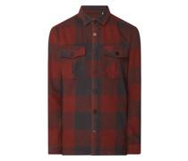 Regular Fit Flanellhemd aus Baumwolle Modell 'Josh'