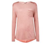 Shirt im Washed Out Look mit Ziersteinbesatz
