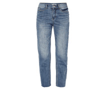 Stone Washed Girlfriend Fit 5-Pocket-Jeans