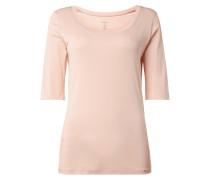 Shirt aus Baumwoll-Elasthan-Mix mit 1/2-Arm