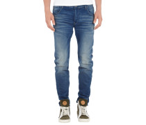 Stone Washed 3D Slim Fit Jeans