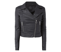 Biker-Jacke aus Coated Denim