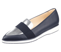 Loafer aus Leder mit Detail in Metallicoptik