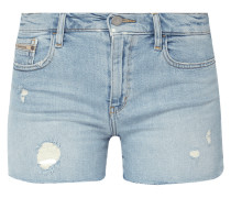 5-Pocket-Jeansshorts mit Destroyed-Effekten