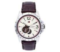 Uhr mit Armband aus echtem Leder