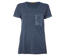 T-Shirt mit Brusttasche aus Pailletten