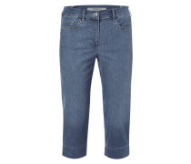 Stone Washed Comfort Fit Caprijeans