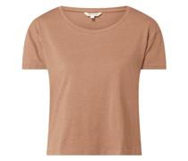 Boxy Fit T-Shirt aus Baumwollmischung