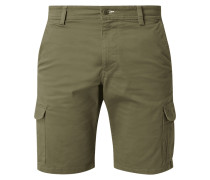 Relaxed Fit Cargoshorts aus Twill