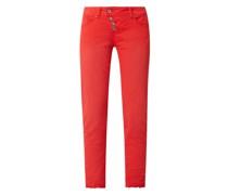 Cropped Hose mit Stretch-Anteil Modell 'Malibu'