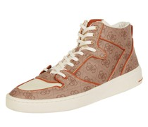 High Top Sneaker mit Logo-Muster