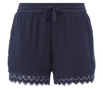 Shorts mit Häkelspitze